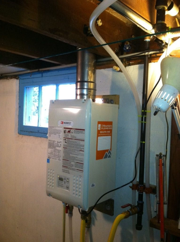Tankless water heater in Portland