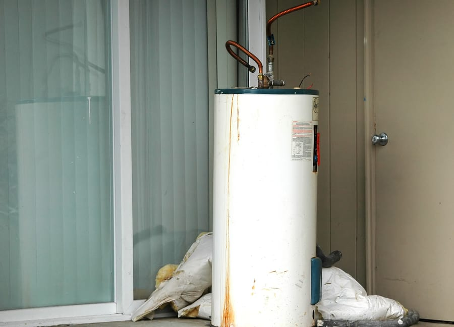 rusted water heater in Portland